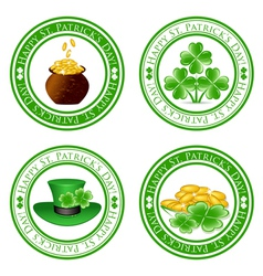 Four leaf clover stamps vector