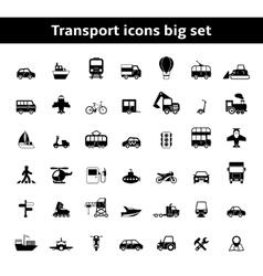 Set of universal transportation vehicles vector