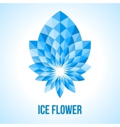 Abstract geometric flower vector