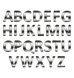 Metal letters of the alphabet vector