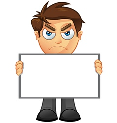 Business man blank sign 3 vector
