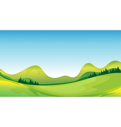Mother nature on its green and blue side vector