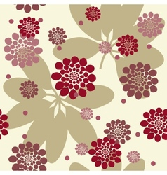Flowers and leafs seamless background vector