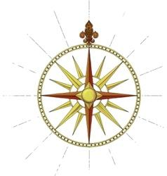 Wind rose symbol vector
