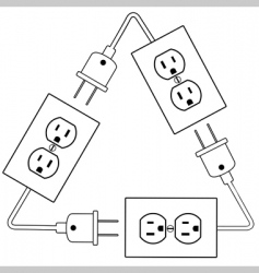 Electrical outlets vector
