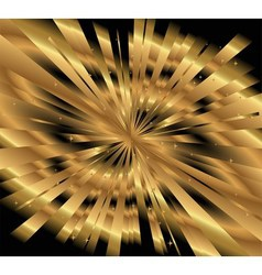 Ray gold background vector