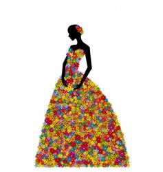 Floral dress vector
