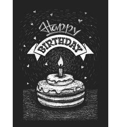 Happy birthday on chalkboard vector