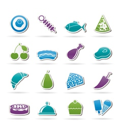 Different kind of food icons vector
