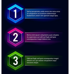 Number options banners vector