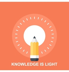 Knowledge is light vector
