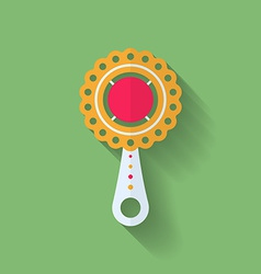 Icon of childrens rattle vector