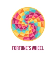 Fortune wheel with abstract geometric pattern vector