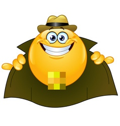 Flasher emoticon vector