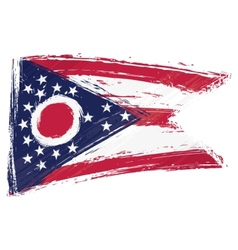 Grunge ohio flag vector