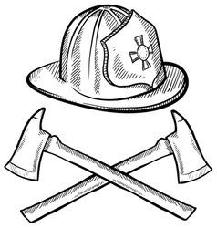 Doodle fireman vector