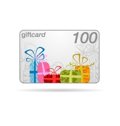Gift card or promotion card vector