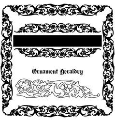 Ornament heraldic vector