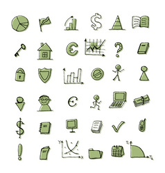 Set of finance icons for your design vector
