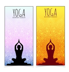 Yoga banner collection vector