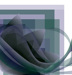 Abstract flower with waves on a square gradient vector