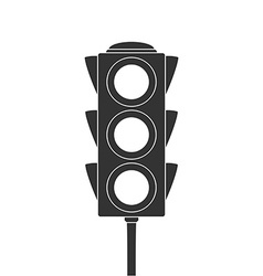 Icon of traffic light vector