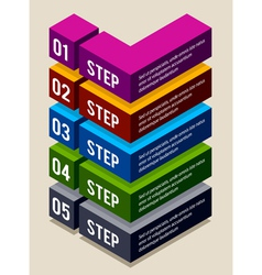 Simple 3d number options banners vector