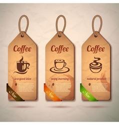 Set of vintage decorative coffee labels vector