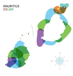 Abstract color map of mauritius vector