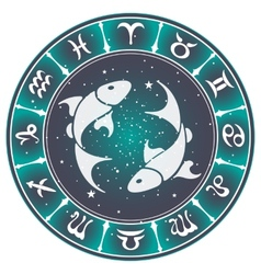 Pisces zodiac sign vector