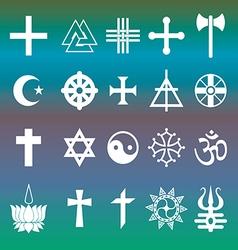 Various religious symbols vector