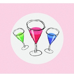 Assorted martinis vector