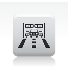 Arrival car race icon vector