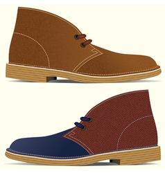 Desert boots vector
