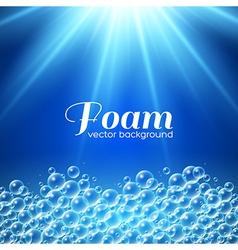 Foam background vector
