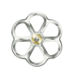 Metallic valve vector
