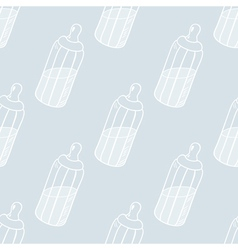 Bottle of milk seamless pattern vector