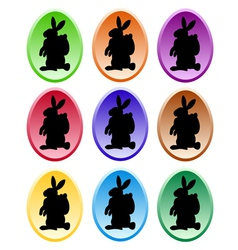 Gradient colored easter eggs vector
