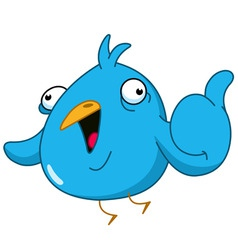 Thumb up bird vector
