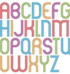 Rounded big jolly cartoon uppercase letters vector