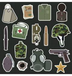 Military stickers vector