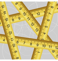 Measuring tape texture vector