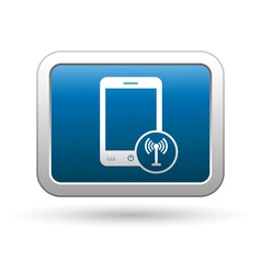 Phone with wireless icon vector