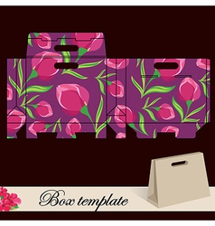 Gift box template vector