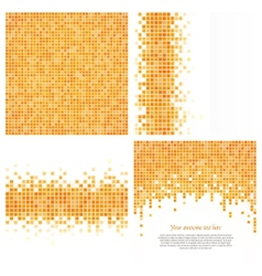 Set of 4 pixel templates for your design vector