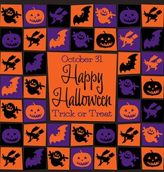 Halloween icons background vector