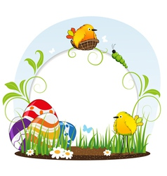 Funny easter background vector