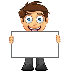 Business man blank sign 6 vector