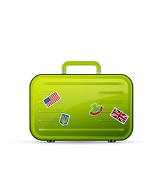 Suitcase tourist vector