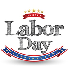 Labor day tag vector